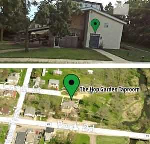Map of THE HOP GARDEN TAP ROOM IN PAOLI, WI