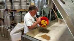 Rich-Adding-His-Familys-Grown-Pumpkin-at-House-of-Brews