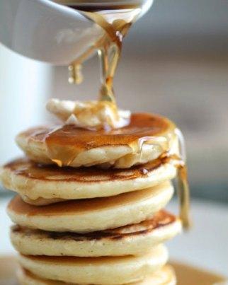 syrup pancake stack