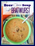 beer cheese soup with bratwurst